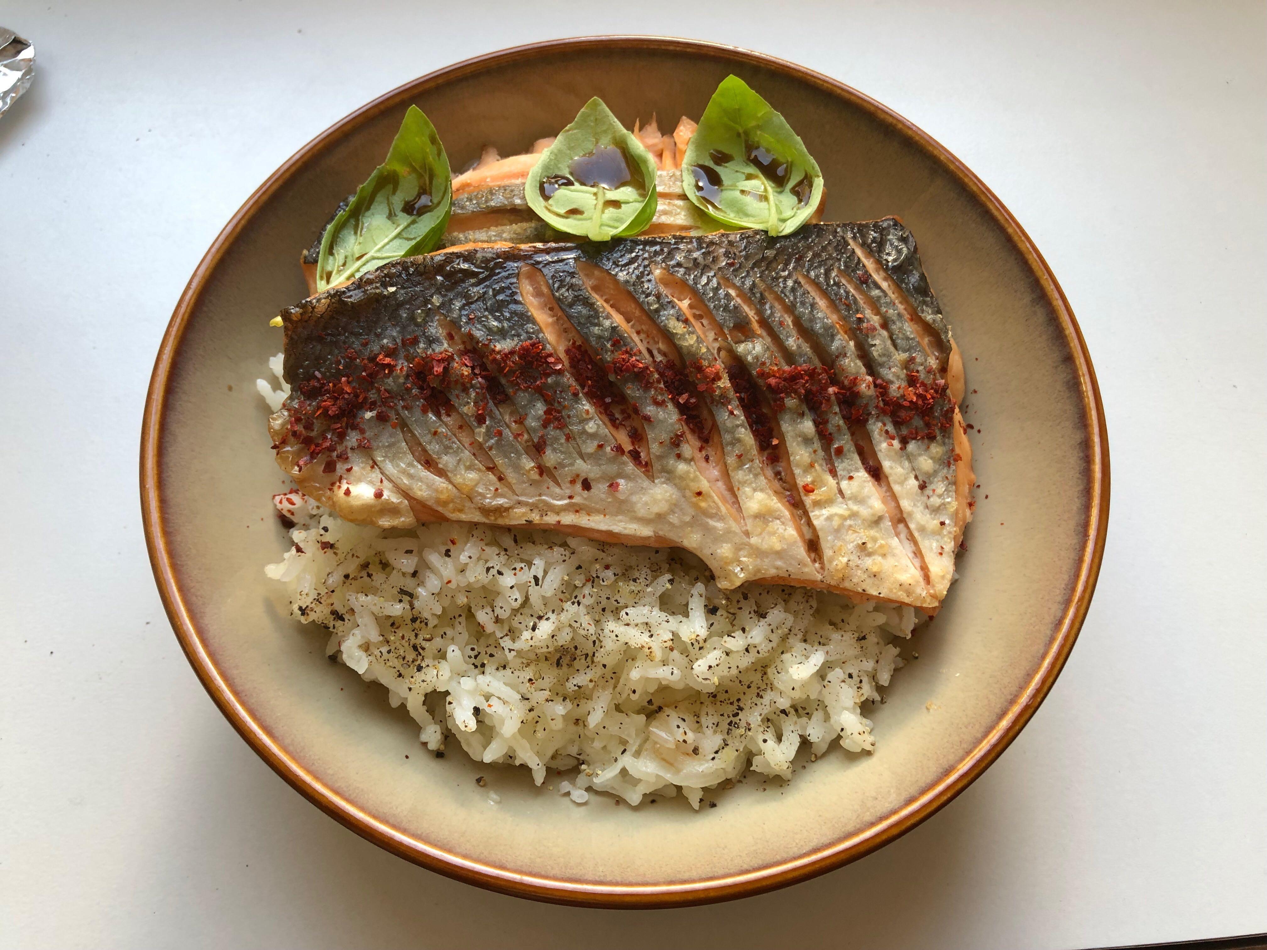 pilavlı balık