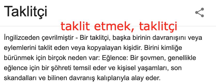 impersonate ne demek, türkçe anlamı nedir?