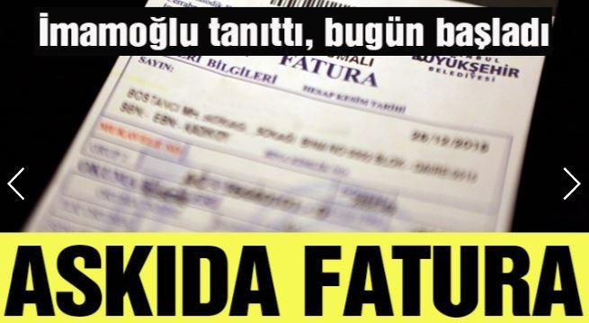 İstanbul'da 'askıda fatura' uygulaması başladı