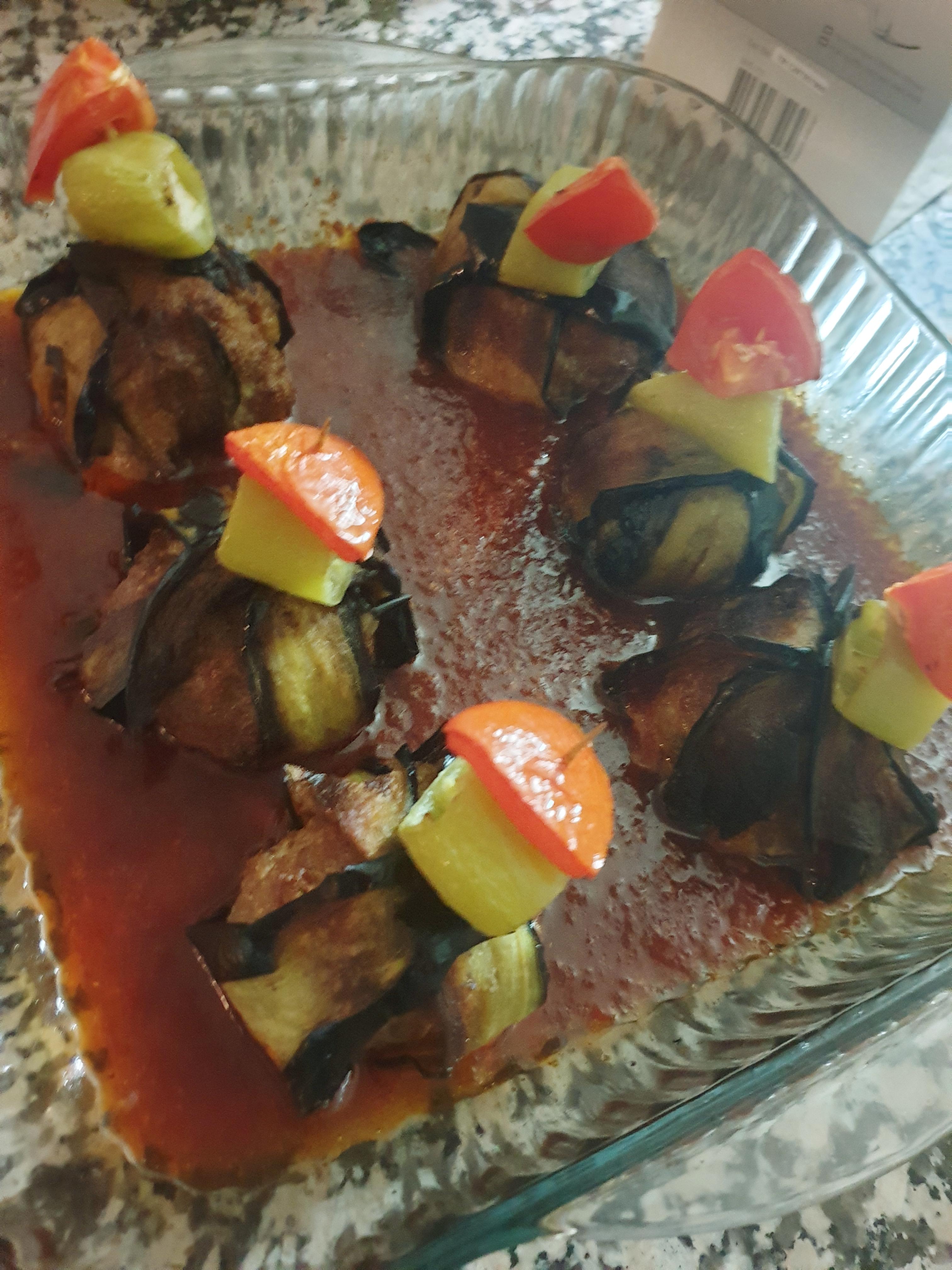 Köfteli Patlıcan Bohçası Kürdan Kebabı