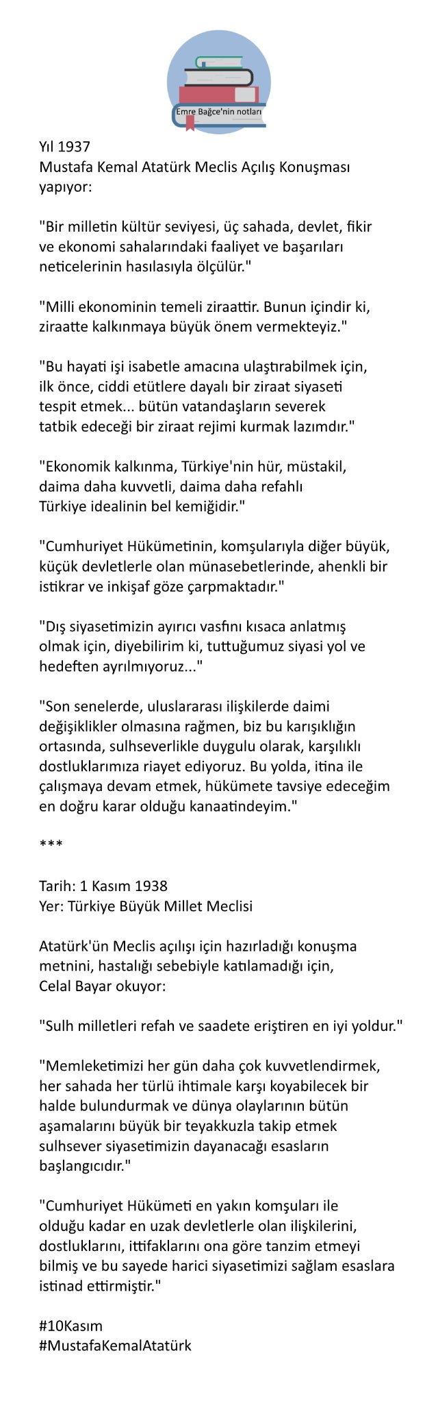 atatürkün meclis açılış konuşması