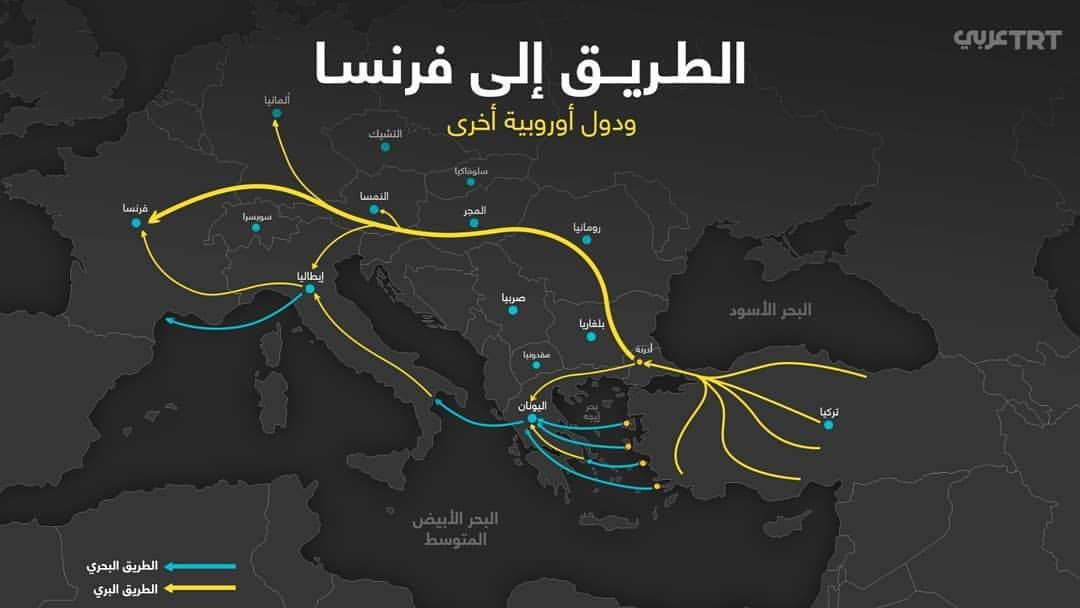 TRT Arabi Avrupa Haritası