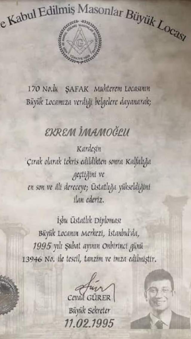 ekrem imamoğlu mason diploması