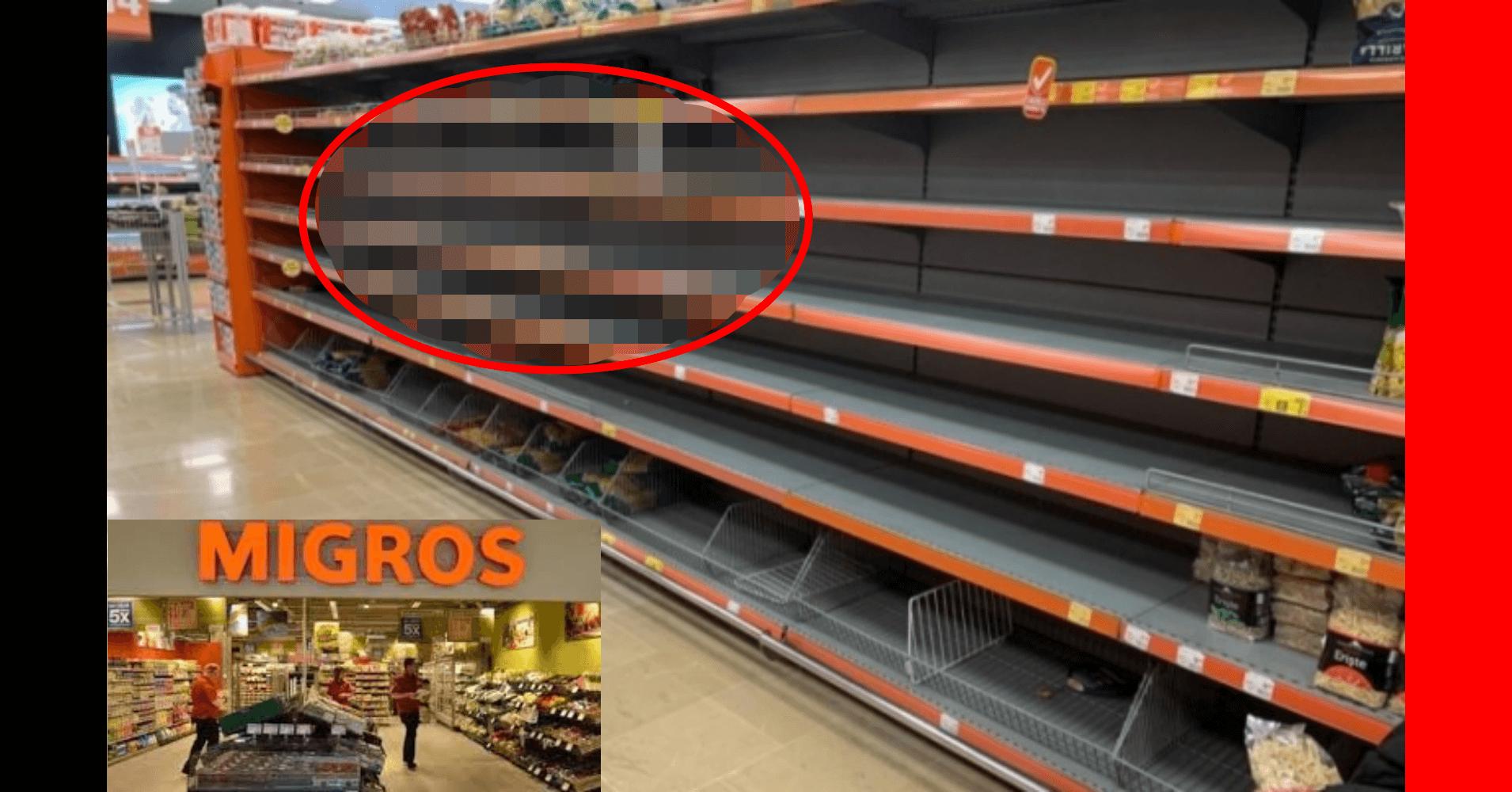 Türkiye'de Koronavirüs çıkmasının ardından Migros'un hali görenleri şaşırttı